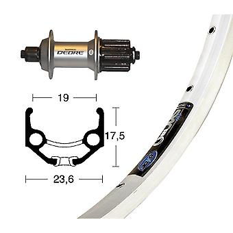 Bike parts 28″ rear Rigida Zac 19 + 8/9 speed SHIMANO DEORE (QR)