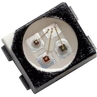 Broadcom HSMF-A341-A00J1 SMD LED (monivärinen) PLCC4 punainen, vihreä, sininen 80 MCD, 160 MCD, 40 MCD 120 ° 20 mA, 20 mA, 20 mA 1,9 V, 3,4 V, 3,4 V teippi leikkaus