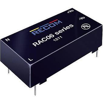 AC/DC PSU (impressão) RECOM RAC06-12SC 12 V DC 0,5 A 6 W
