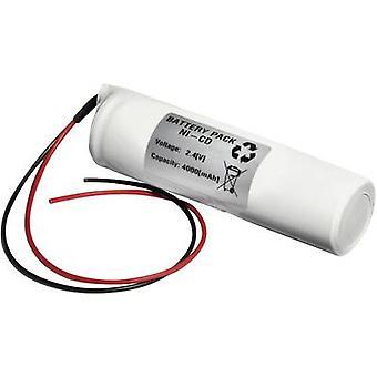 Emmerich 24D4000S nød lys batterikabel 2,4 V 4000 mAh