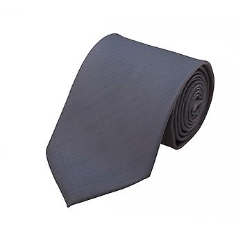 Schlips Krawatte Krawatten Binder 8cm grau uni Streifen gestreift uni Fabio Farini