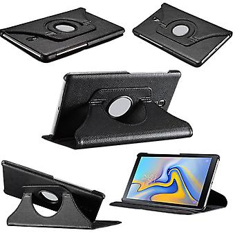 For Samsung Galaxy tab S4 10.5 T830 T835F black 360 degree case cover art leather pouch case new