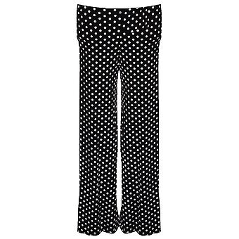 Dla dzieci Polka Dot zauważył czarny biały flary dziewczyny workowate spodnie Party
