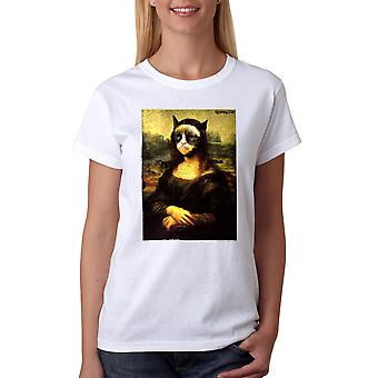 Grumpy Cat knorrige Mona vrouwen witte grappig T-shirt