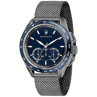 Maserati Mens Traguardo 45mm | Blau Zifferblatt | Graue Mesh R8873612009 Armbanduhr