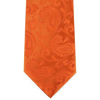David Van Hagen Paisley Tie - oranje