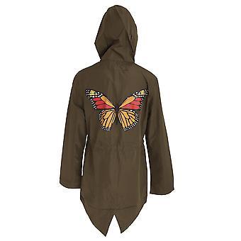 Alma valiente diseño de la mariposa de las mujeres/señoras Plus tamaño Parka chaqueta