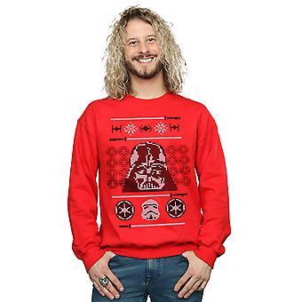 Star Navidad cabeza de Vader Fair Isle sudadera Wars los hombres