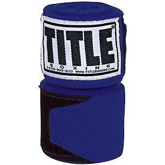 "Title Boxing 180"" Semi Elastic Mexican Handwraps - Royal"