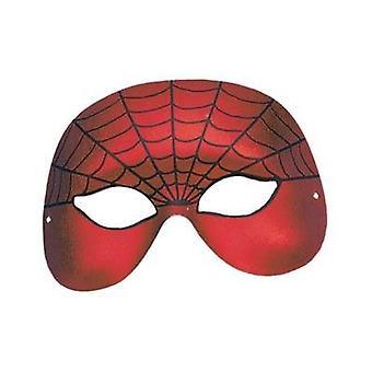 Spiderman Domino halve gezicht.