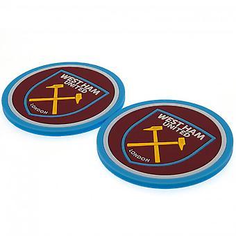 West Ham United FC Coaster Set (Pack Of 2)