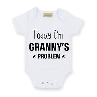 Today I'm Granny's Problem White Short Sleeve Baby Grow