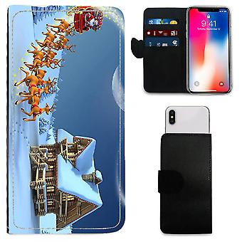 CHRISTMAS Printed PU Leather Wallet Case for Samsung Galaxy S6 - 117 by i-Tronixs
