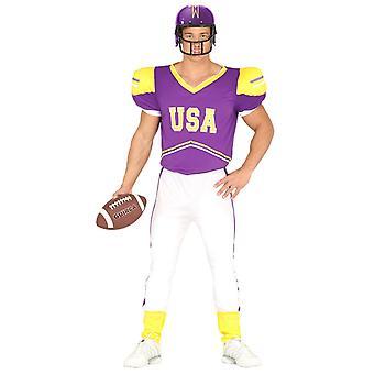 Mens Verenigde Staten Quarterback Fancy Dress kostuum