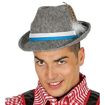 Mens Grey Oktoberfest cappello costume accessorio