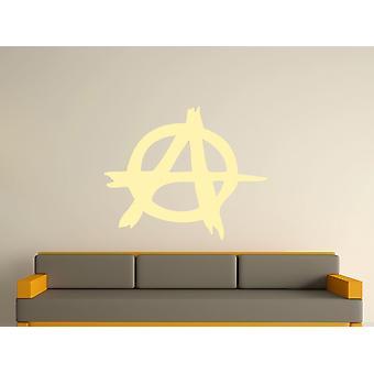 Anarchy Symbol Wall Art Sticker - Beige