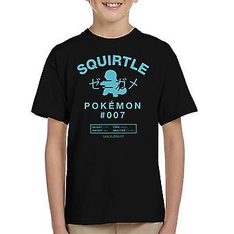 Pokemon Squirtle numero seitsemän Lasten t-paita