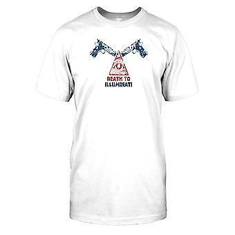 Død til Illuminati - konspirasjon Mens T-skjorte