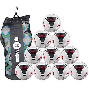 10 x JAKO הכשרה כדור יוקרה כולל שק כדור