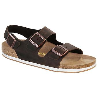 Unisex Adults Birkenstock Milano Oiled Leather Strappy Slingback Sandals