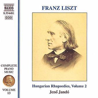 F. Liszt - Liszt: Rapsodie ungheresi, importazione USA Vol. 2 [CD]