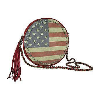 Montana West Amerikaanse trots Vintage vlag ronde keten handvat handtas