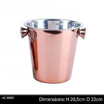 Rose Gold Champagne Bucket  H20,5 D22 Cm