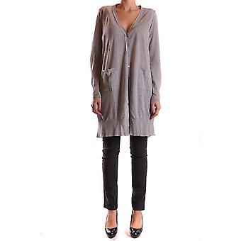 Liviana Conti Ezbc261019 Dames's Grey Polyester Cardigan