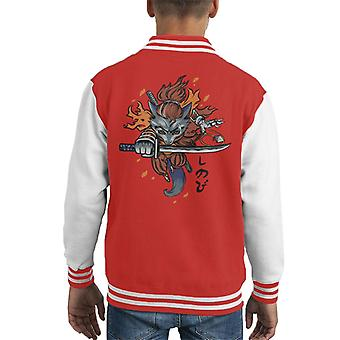 Shinobi Wolf Sekiro Kid's Varsity Jacket