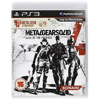 Metal Gear Solid 4 25th Anniversary Edition (PS3)-ny