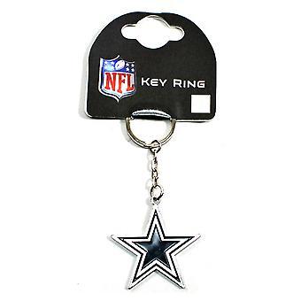 Dallas Cowboys Official Metal NFL Football Crest Keyring