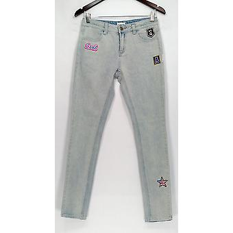 American Retro Jeans 26 bolsillos delgados para las piernas con detalle de partido azul