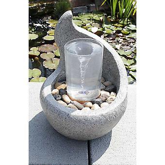 Garden fountain Deco fountain FoCurvo with water strudel effect 10898