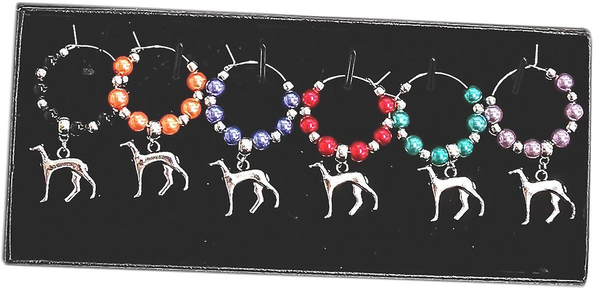 Craftilydunn Wine Glass Charms - Greyhounds