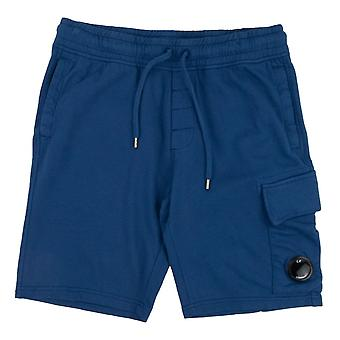 CP Company Lens Sweat Shorts Blue 849