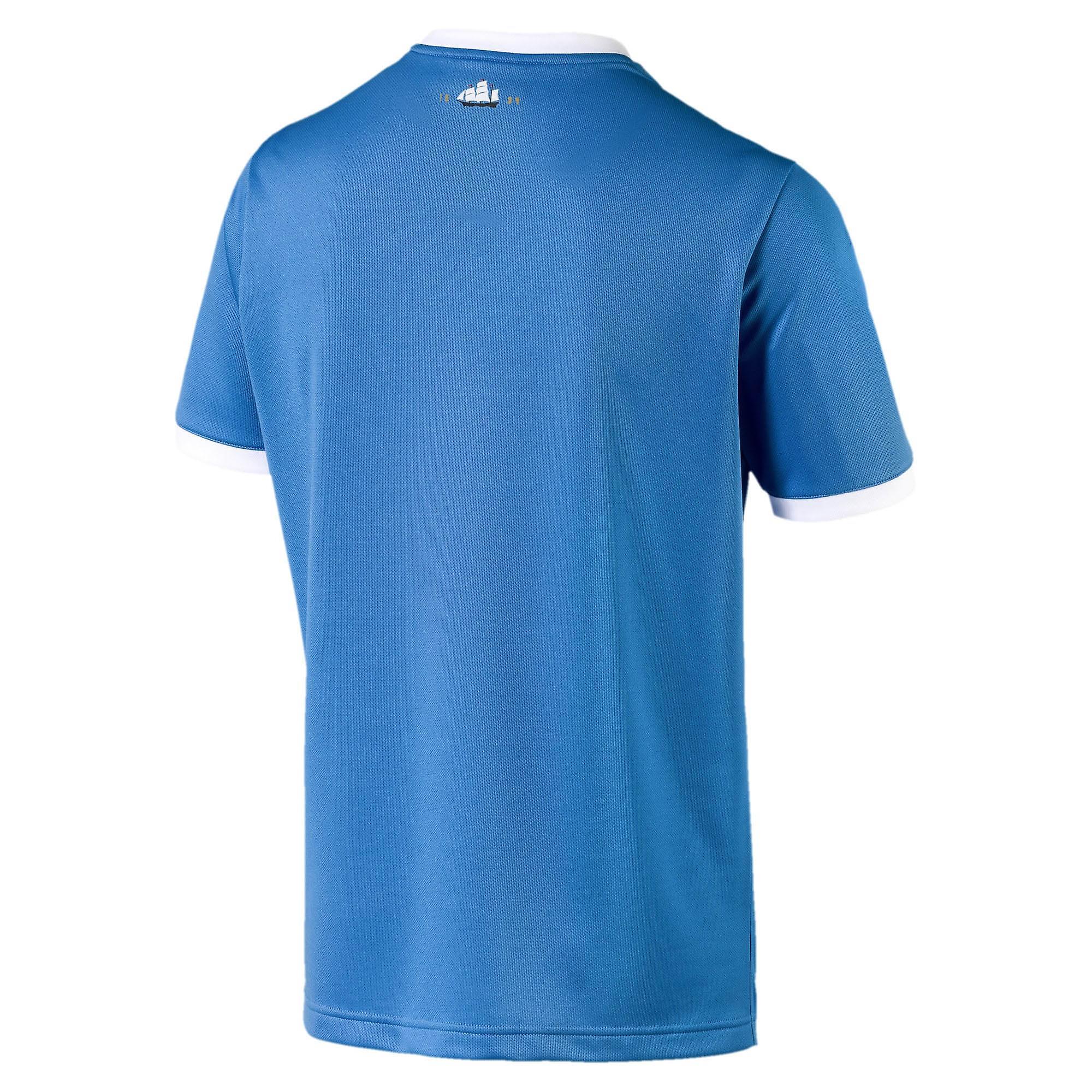Puma Manchester City 125 Year Anniversary Mens Short Sleeve Football Shirt Blue