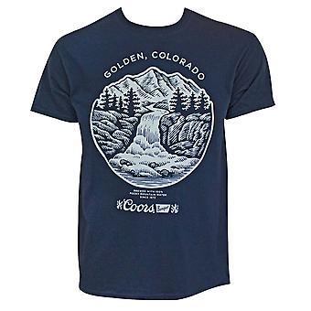 Coors Golden Colorado Men's Navy Blue T-Shirt