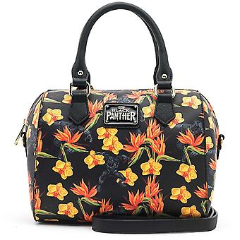 Black Panther Floral Cross Body Duffle Sac