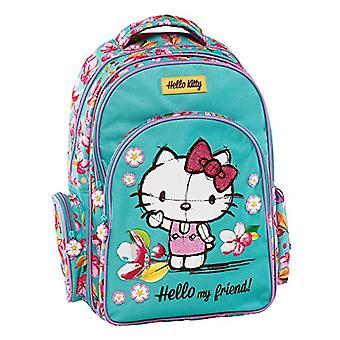 Graffiti Hello Kitty Backpack - 44 cm - Green (Mint)