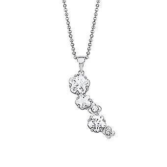Amor Women's necklace with silver ball pendant Sterling 925 rodent with white zircons 45 cm 570381