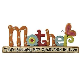 Mother Love Block with Butterfly