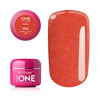 Base one-Pixel-Coral reaf Red 5g UV Gel