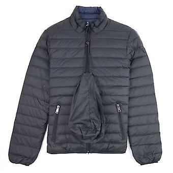 Emporio Armani Reversible Funnel Neck Down Jacket Black 999
