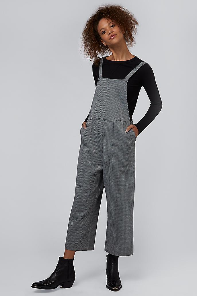 Louche Davis Pow Pinafore Jumpsuit Black/White