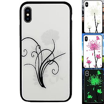 BackCover Magic Glass for Apple iPhone X - XS Flower2