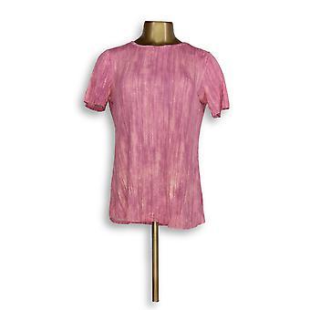 Lisa Rinna coleção mulheres ' s Top impresso Knit back detalhe Pink A291099