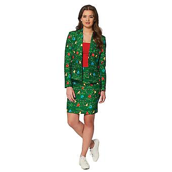 Women Christmas Suit Green