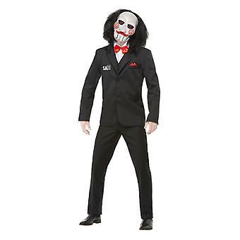 Mens Saw Jigsaw Halloween Fancy Abito Costume