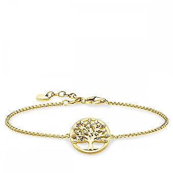 Thomas Sabo Sterling Silver Thomas Sabo Paradise Gold Tree Of Love Bracelet A1868-488-7-L19v