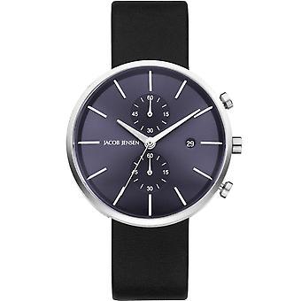 Jacob Jensen 621 Men's Linear Series Chronograph Wristwatch